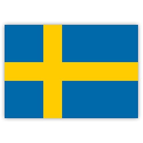 10 x Aufkleber Schweden-Flagge, 7,4 x 5,2 cm für innen und außen