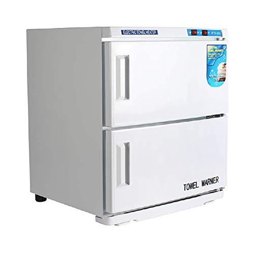 MOIMK 2-en-1 Toalla Caliente esterilizador Desinfectante, 32L Calentador de Toallas con esterilizador UV Desinfección de Acero Inoxidable Estante para salón de Belleza, SPA, Hotel y casa