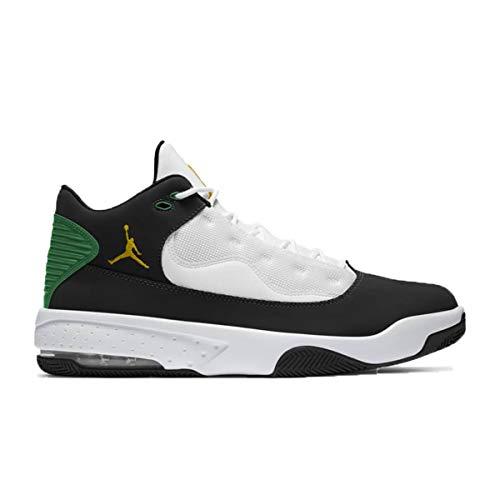 Nike Jordan MAX Aura 2, Zapatillas de bsquetbol Hombre, Black Dk Sulfur White Lucky Green, 40 EU