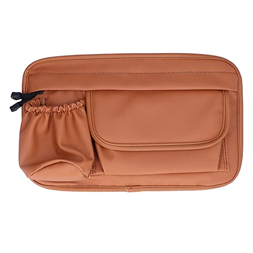 Bolsa organizadora para montar, bolsa de almacenamiento, impermeable, cuero artificial, organizador con cremallera marrón para Vespa gts300 GTS LX LXV