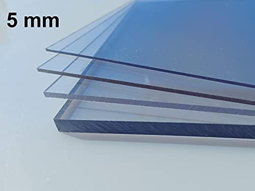 Plaque Polycarbonate UV différentes Tailles, épaisseurs, transparente (0,5-20 mm) (PC transparente 5 mm, 500 x 400 mm)