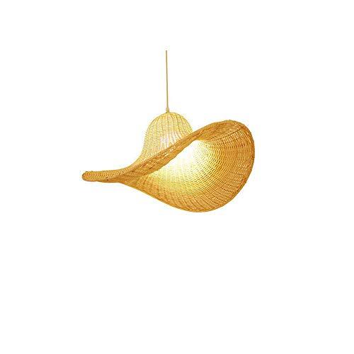 Rattan Japonés De Mimbre De Bambú Araña Natural Colgante Lámpara Sombrero De Ratán Hecho A Mano Lámpara De Bricolaje Lámpara De Tejido De Mano