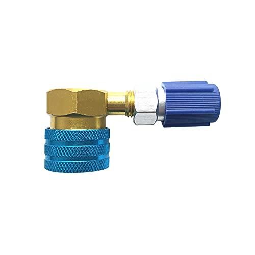 Dounan Acoplador De Ca Para Coche,Adaptador de acoplador rápido de lado bajo R1234YF a R134A, conector de montaje de aire acondicionado de coche para carga de CA de aire acondicionado de coche