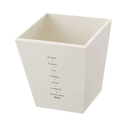 Portalápices de plástico, organizador de escritorio cuadrado y portalápices, caja de almacenamiento para oficina, escuela, hogar y niños, organizador de papelería (color: blanco