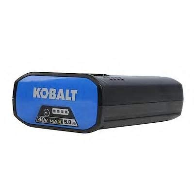 Kobalt 40-Volt Max 5-Amps Rechargeable Lithium Ion (Li-Ion) Cordless Power Equipment Battery