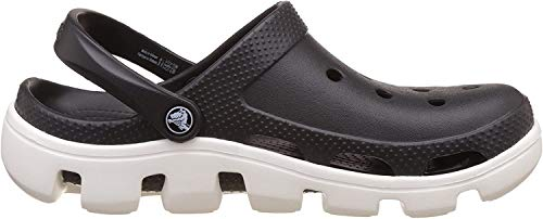 crocs Unisex-Erwachsene Duet Sport Clogs, Black/White, 42/43 EU