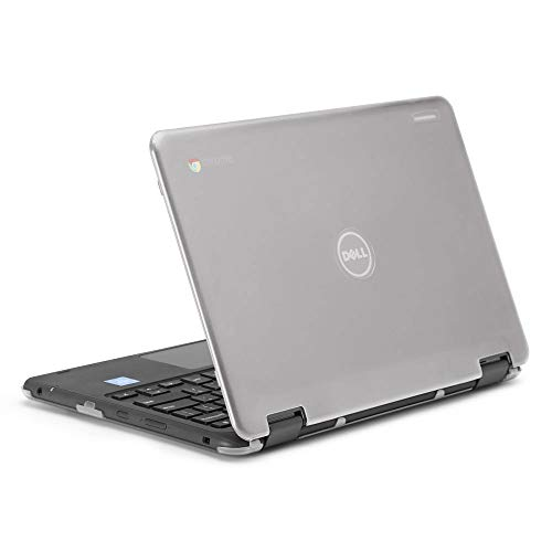"""mCover Hard Shell Case for 11.6"""" Dell Chromebook 11 5190 3189 Series Education or 2-in-1 Laptop (NOT Compatible with 210-ACDU / 3120 / 3180 Series) - Dell-C11-5190 Clear"""