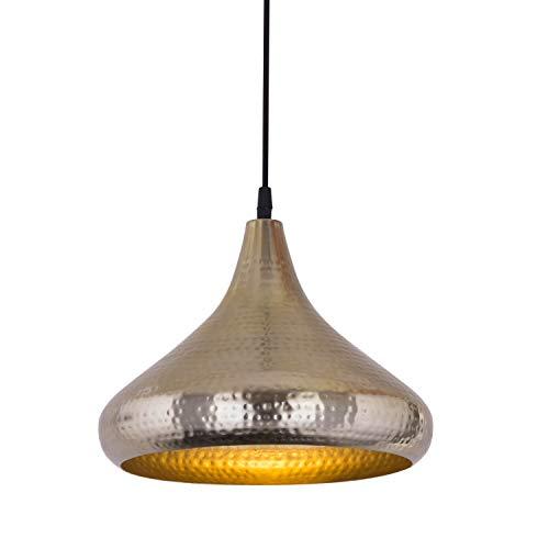casamia Hängelampe Pendelleuchte Metall Hängeleuchte Esstisch-Deckenlampe Tropfenform Vintage Farbe gold