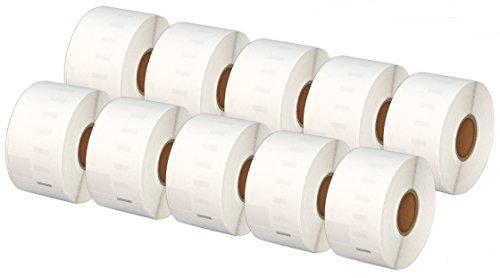 Printing Saver 10x 99012 36 x 89 mm Compatibili Rotoli Etichette adesive (260 Etichette/Rotolo) per Dymo LabelWriter 310 320 330 4XL 400 450 Turbo/Twin Turbo/Duo & Seiko SLP etichettatrici
