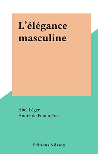 L'élégance masculine