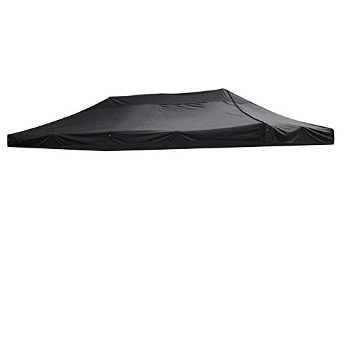 hdfj12142 3x6m Jardín Gazebo Carpa Carpa Evento al Aire Libre Refugio Carpa para Fiestas Gazebo Comercial Reemplazo de Gran tamaño Oxford Tarp Impermeable Sun Shelter Gazebo Canopy-Negro