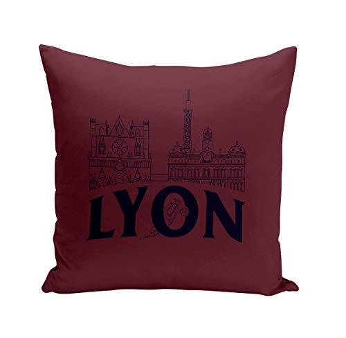 Fabulous Coussin 40x40 cm Lyon Minimalist France Ville Est Culture
