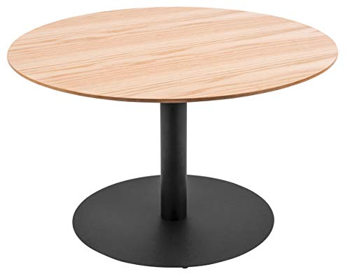 Present Time - Table Basse Bois de chêne et métal Dot Ø60 cm