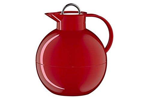 alfi 0105.031.094 Isolierkanne Kugel Sonderedition, Kunststoff glatt Rot 0,94 l, 12 Stunden heiß, 24 Stunden kalt, mit Edelstahl Deckel