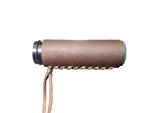 Heavy Duty Brown Leather Motorcycle Grip Covers for Hd Motorcycles