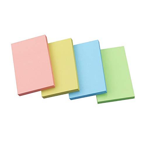 付箋 強粘着ブロックメモ カラー4色 50×75mm 8冊入×75枚
