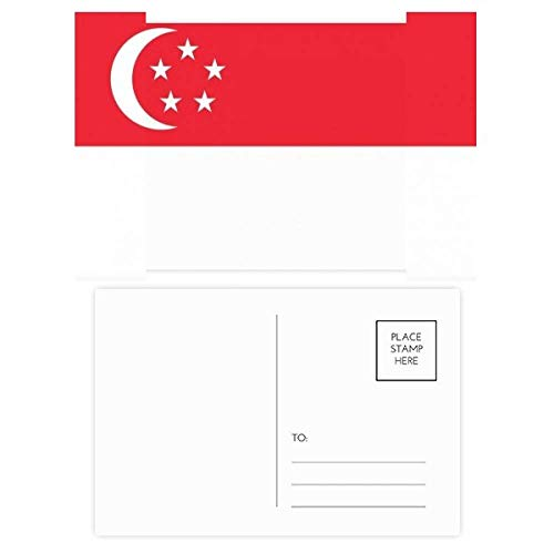 Singapore Nationale Vlag Azië Land Kerstmis Bloem Postkaart Thanks Card Mailing 20 stks