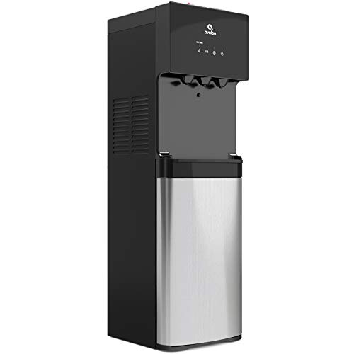 Avalon A4BLWTRCLR water dispenser, 3 or 5 gallon bottle, Stainless Steel & Black