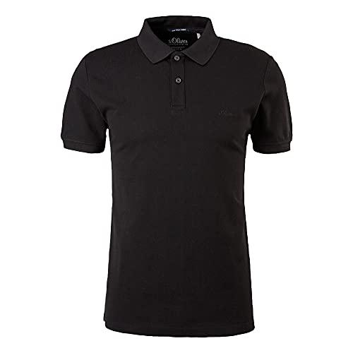 s.Oliver Herren T-Shirt black/black logo L