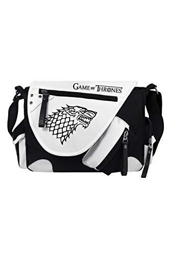 RedJade Game of Thrones Stark Direwolf Sigil Crossbody Messenger Bag Handbag Tote Shoulder Bag Handtasche Einkaufstasche cabostasche Cosplay Schultasche Negro