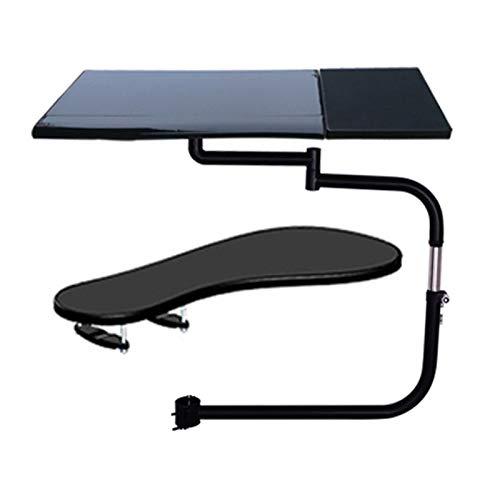 Soporte de la computadora Soporte de teclado cuadrado de movimiento completo multifuncional soporte portátil del escritorio del ordenador portátil Acero inoxidable 20kg + Silla Abrazadera Alfombrilla