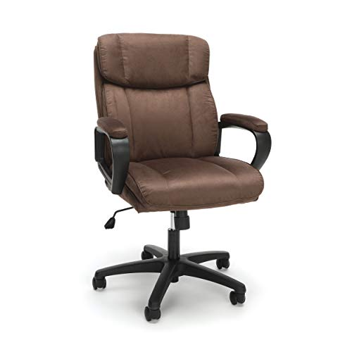 OFM ESS Collection Plush Microfiber Office Chair, Mid-Back, Brown