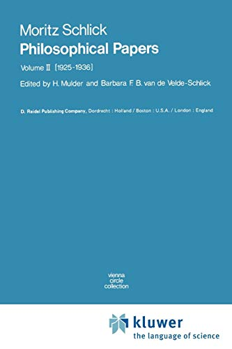 Price comparison product image Philosophical Papers: Volume II: (1925-1936): 1925-1936 v. 2 (Vienna Circle Collection)