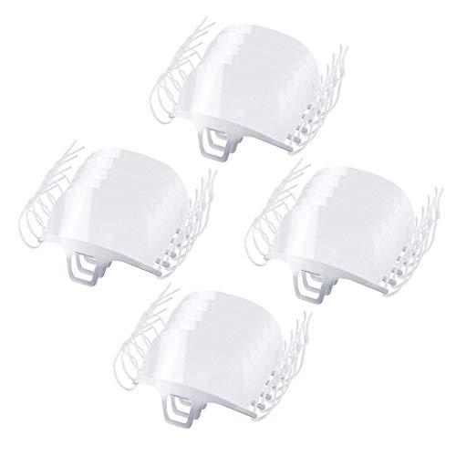 20 Stück Transparente Offene Gesichtsschutz, Half Face Visier Kunststoff Klarer Gesichtsschutz Elastisch Komfortabel Tragender Mundschutz, Wiederverwendbarer Sicherheitsgesichtsschutz (20PC)