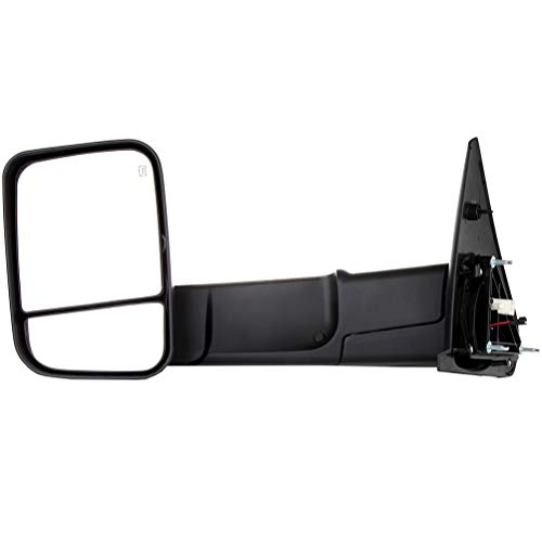 New OCPTY Towing Mirror Power Heated Left Driver Side Tow Mirror Fit for 2002-2008 Dodge Ram 1500 20...