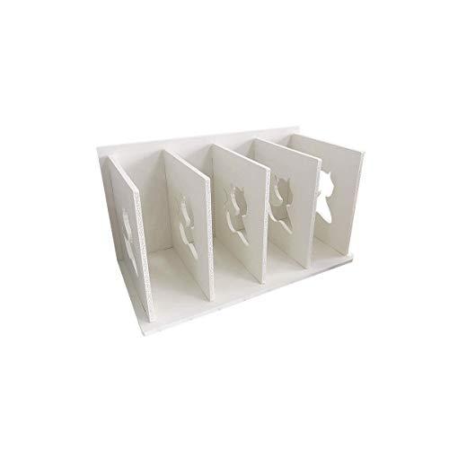 Zzaoxin - Scaffale per libri, in legno, con grande capacità, per conigli e libreria, per dormitorio, ufficio, piccoli oggetti (bianco)