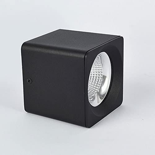 15W LED Techo Spot Light Superficie Montado Downlight, Acento Moderno Spotlight Luz de Techo Interior, focos direccionales para Sala de Estar Galería de Tiendas de Hotel (Color : Black-6000k)