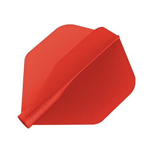 8 Flight Red No.6 Shape Pro Dart Flights Plumas para Dardos, Rojo, No. 6