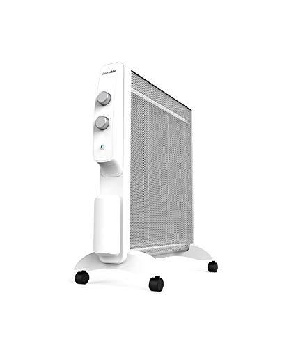UNIVERSALBLUE   Radiador Mica bajo Consumo   Calefactor Silencioso 2000W   Termostato Regulable   Color Blanco   Rápido calenamiento