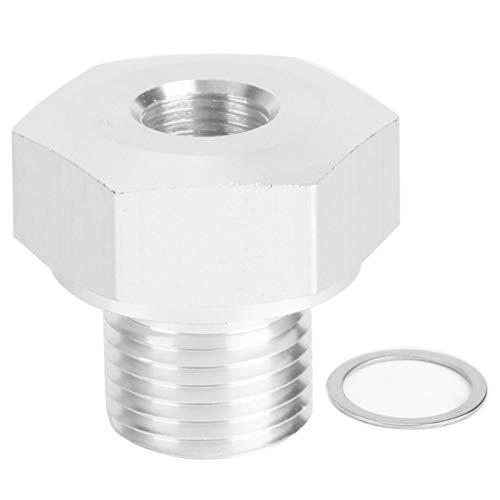 Conector adaptador de sensor de presión de aceite Transductor de sensor de presión de aceite Adaptadores de sensor de presión de aceite de motor de coche M16 x 1,5 a 1/8 Npt Ajuste para coche Gm Ls Mo