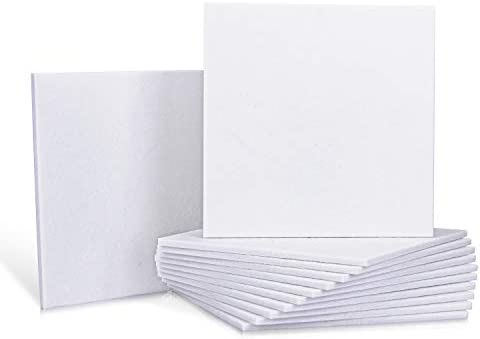 12 Pack Set Acoustic Absorption Panel 12 X 12 X 0 4 Inches White Acoustic Soundproofing Insulation product image
