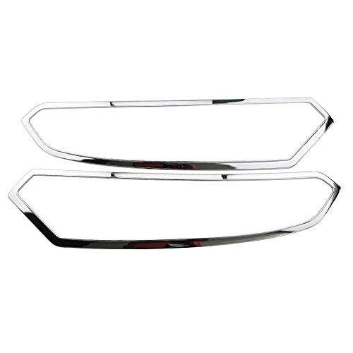 JTSGHRZ Für Ford Ecosport 2013-2017 ABS Chrom Auto Kombination Scheinwerferblende Frontscheinwerfer Lampenabdeckung