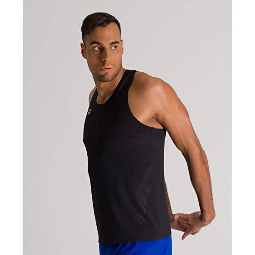 ARENA Herren A-One Mesh Tank Top Camiseta de Tirantes, Hombre, Negro Reflex, Medium