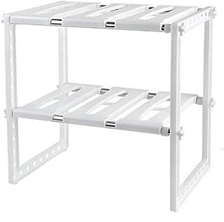 2 Tiers Pool Space Arrangement Frame Adjustable Family Kitchen Rack