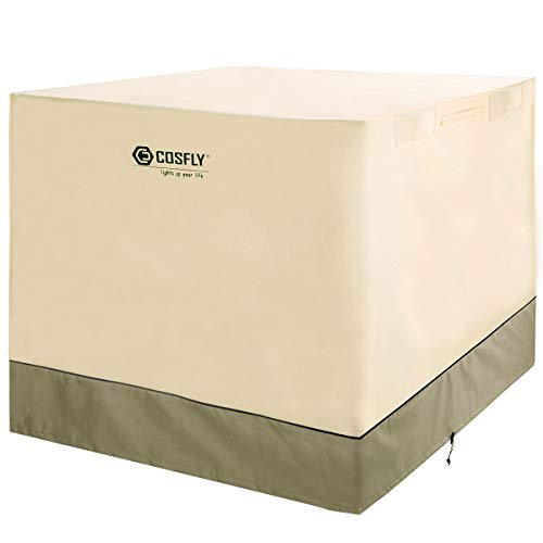 COSFLY Air Conditioner Cover for Outside Units-Durable AC Cover Water Resistant Fabric Windproof...