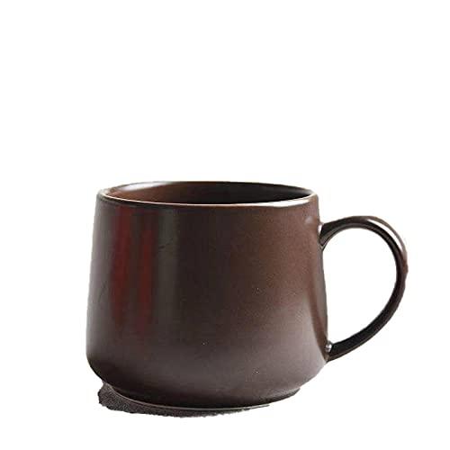 Juego de tazas de cerámica con una cuchara Taza de café con plato Taza Taza de cerámica creativa-Café profundo monk_201-300ml