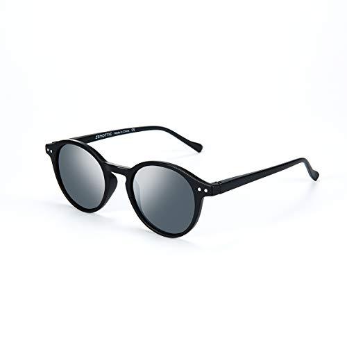 ZENOTTIC Gafas de sol Polarizadas Redondo Retrospectivo Cl¨¢sico Retrospectivo Lentes de sol Marco UV400 Para hombres y mujeres ¡