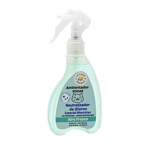 lacasadelosaromas Spray ambientador de Hogar, Neutralizador de Olores, Especial Mascotas Miau 200ml