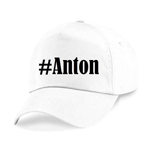 Reifen-Markt Base Cap Hashtag #Anton Größe Uni Farbe Weiss Druck Schwarz