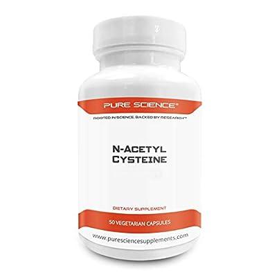 Pure Science N-Acetyl Cysteine 700mg - 50 Vegetarian Capsules