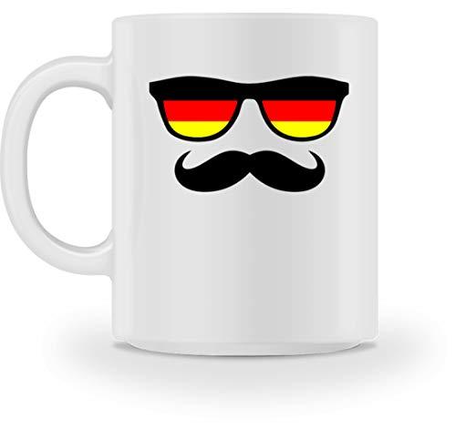 Deutschland Sonnenbrille Fußball Schnäuzer Bart - Schlichtes Und Witziges Design - Tasse