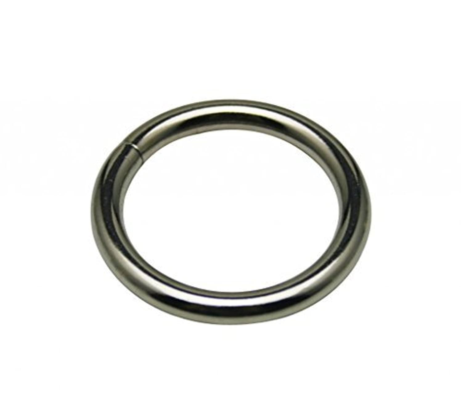 Generic Metal Silvery Annular Ring Buckle 1.5