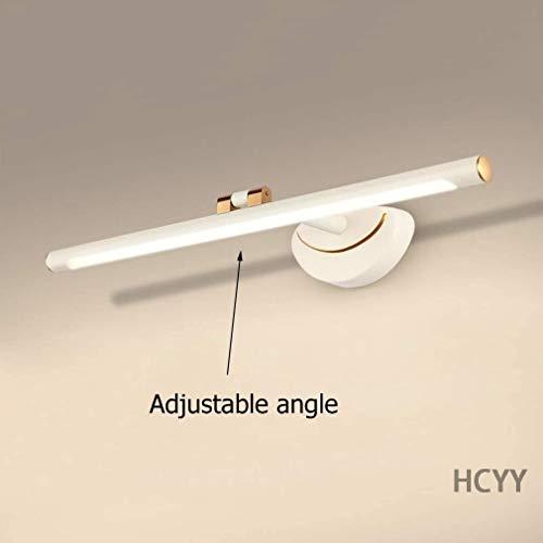 JFFFFWI Lámpara de Espejo Luces de Espejo de baño Modernas LED, Luz de Maquillaje con ángulo Ajustable, Luz de Marco de Espejo de tocador, Lámpara de Pared de baño de Aluminio, Lámpara de Pared de g