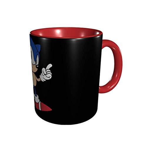 Taza De Café De Cerámica De Té De Porcelana Sonic The Hedgehog Taza De Café De Cerámica Taza De Té Para Oficina Y Hogar Apto Para Lavavajillas y Microondas 1 Paquete 330 Ml