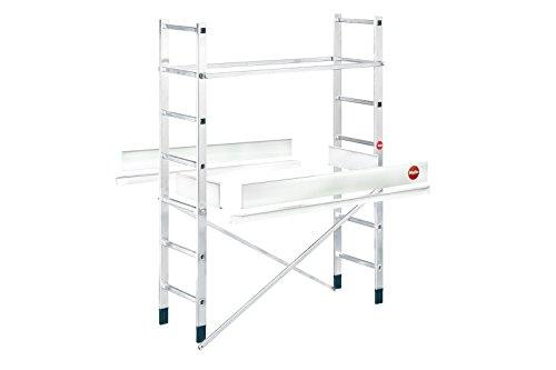 ProfiStep® multi Aluminium-Leitern-Gerüst mobil mit Ballastgewichten