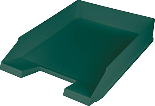 """Helit H2661652 - Briefablage \""""the green staff\"""", DIN A4-C4, aus Recycling-Kunststoff Blauer Engel zertifiziert, grün, 1 Stück"""